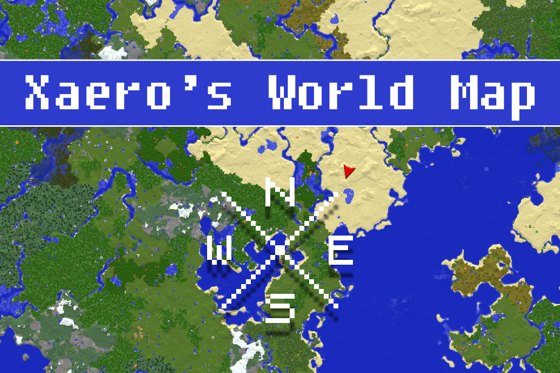 Xaeros World - Maps fur minecraft 1 10